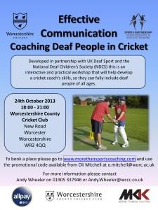Coaching Deaf People Workshop - 24 Oct 2013