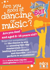 Raising the bar music and dance competition flyer